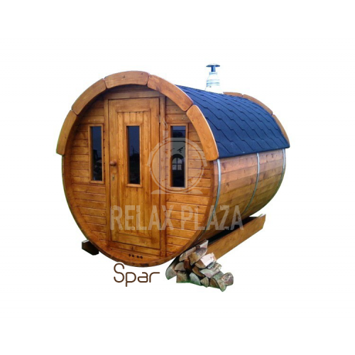 2m Barrel Sauna Spruce Wood ᴓ1.9m