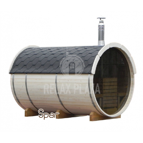 3m Barrel Sauna Spruce Wood ᴓ1.9m