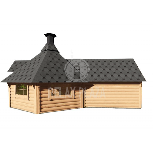 9.2m.Grill Cabin with sauna extension